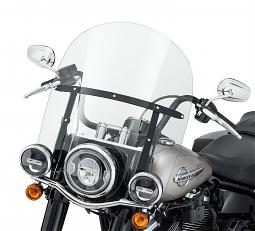 """Harley-Davidson® Milwaukee-Eight® King-Size H-D® Detachables™   18"""" Windshield   Clear   Black"""