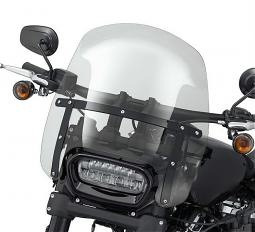 Harley-Davidson® Milwaukee-Eight® Fat Bob® & Fat Boy® | Wind Splitter Detachable Compact Windshield | 15"