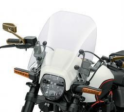 "Harley-Davidson® Milwaukee-Eight® FXDRS 114   Quick-Release Compact Windshield   16""   Light Smoke"