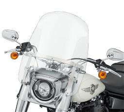 Harley-Davidson® Milwaukee-Eight® Fat Boy® | Wind Splitter Detachable Compact Windshield | 19"