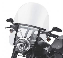 Harley-Davidson® Detachables™ 21 Inch Clear Windshield | Gloss Black Braces | FL Softail®