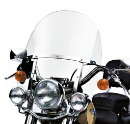 Harley-Davidson® FL Softail® Detachables™ 21 Inch Windshield Clear/Polished Braces
