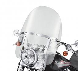Harley-Davidson® King-Size Detachables™ Windshield | Softail® Models | 21 Inch Clear/Polished Braces