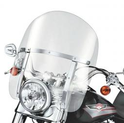 Harley-Davidson® King-Size Detachables™ Windshield for FL Softail® Models 18 Inch Light Smoke/Polished Braces