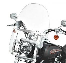 Harley-Davidson® Quick-Release Detachables™ Compact Windshield 18 Inch Clear