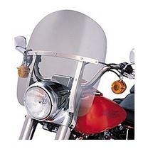 Harley-Davidson® King-Size Detachables™ 16 Inch Windshield for Nacelle-Equipped Models Without Auxiliary Lamps Light Smoke