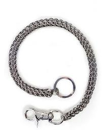 "Hair Glove® Men's Multi-Ring Wallet Chain | Stainless Steel | 18"" Chain"