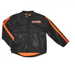 Harley-Davidson® Boys' Faux-Leather Biker Jacket