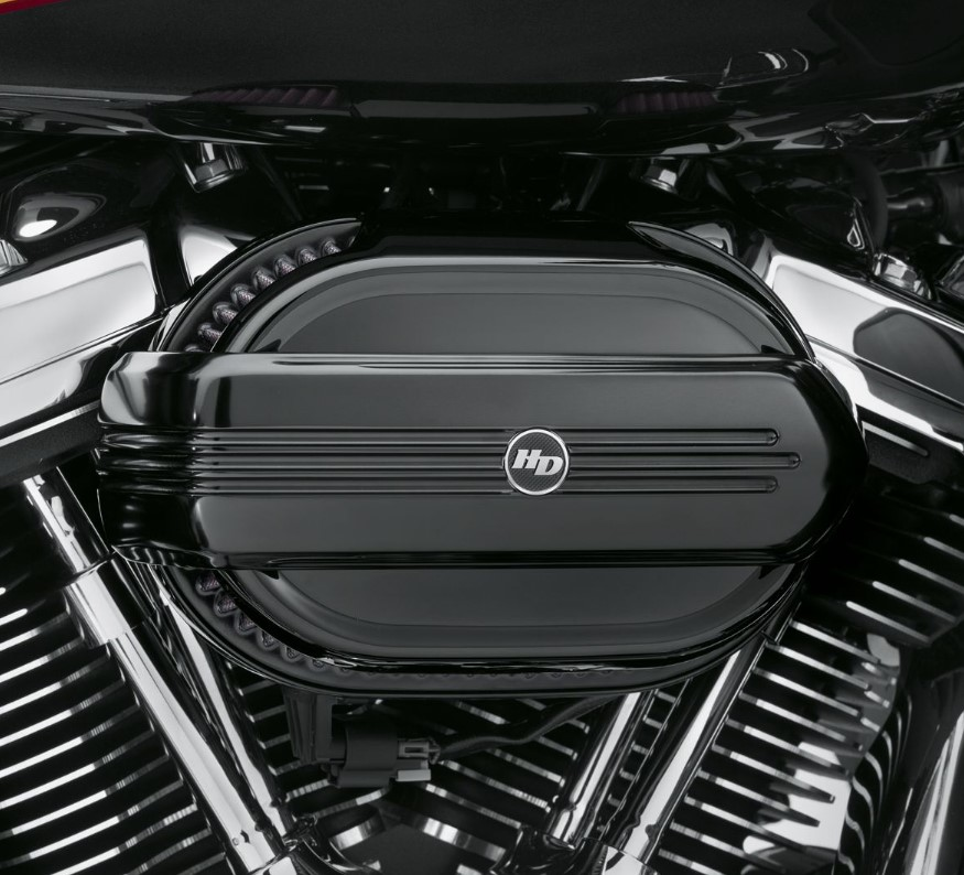 Harley-Davidson® Defiance Ventilator Air Cleaner Trim | Gloss Black