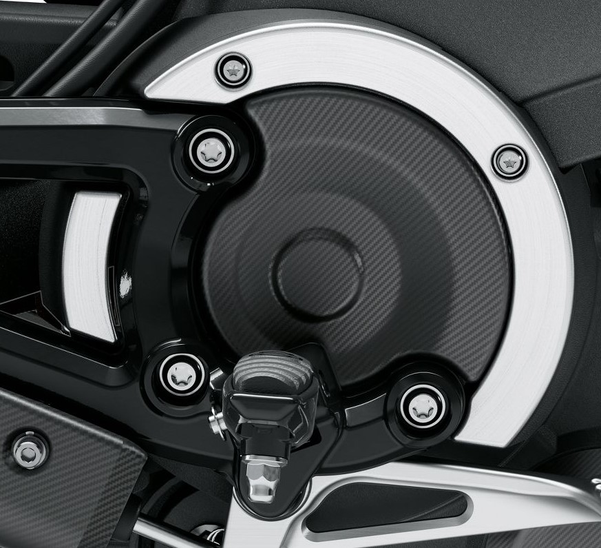 Harley-Davidson® LiveWire™ Transmission Accent Covers | Carbon Fiber