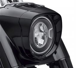 Harley-Davidson® '18-Later Fat Boy® Nacelle Headlamp Bezel | Front End | Gloss Black