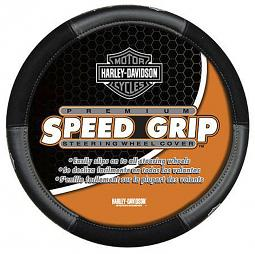 Harley-Davidson® Speed Grip™ Steering Wheel Cover | Grey Bar & Shield®