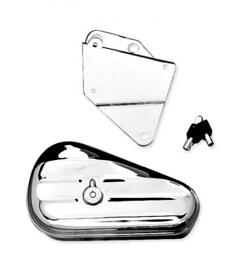 Harley-Davidson® Softail® Toolbox Chrome Left Side Mount