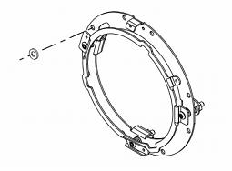 Harley-Davidson® 7 inch Head-lamp Mounting Ring Kit