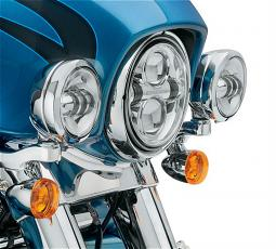 Harley-Davidson® Custom Auxiliary Lighting Kit | '14-Later Street Glide® & Street Glide Special | Chrome