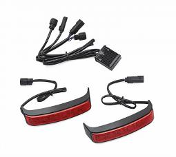 Harley-Davidson® Electra Glo LED Saddlebag Run/Brake/Turn Lamp | Touring | Black | Red Lens