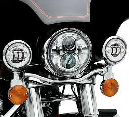 Harley-Davidson® Daymaker™ Projector LED Auxiliary Lamps - Chrome