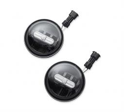 Harley-Davidson® Daymaker™ Signature Reflector LED Auxiliary Lamps | Black 4""
