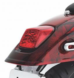 Harley-Davidson® Tail Lamp | LED | Red Lens with Chrome Reflector