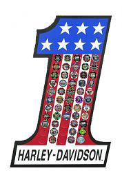 Harley-Davidson® #1 Stars & Stripes Magnetic 55 Poker Chip Collectors' Frame