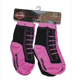 Harley-Davidson® Girls' 3-Pack Socks | Knit-In Designs