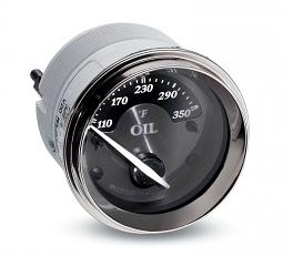 Harley-Davidson® Oil Temperature Gauge | Fahrenheit | Titanium Face