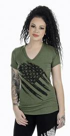Liberty Wear American Made Apparel Women's Lincoln T-Shirt   V-Neck   Short Sleeves