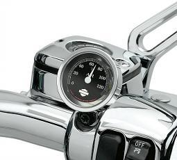 Harley-Davidson® Handlebar Thermometer | Black Face | Fahrenheit