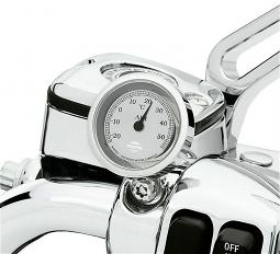 Harley-Davidson® Handlebar Thermometer | Silver-tone Face | Celsius