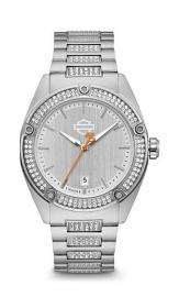 Harley-Davidson® Women's Stainless Steel Watch | Swarovski® Crystals | Bracelet Band