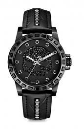 Harley-Davidson® Women's Black Stainless Steel Watch | Willie G® Skull | Swarovski® Crystals