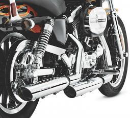 Harley-Davidson® Screamin' Eagle® Street Performance Slip-On Shorty Dual Mufflers | Sportster® | Chrome