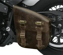 Harley-Davidson® Twin-Cam Softail® Single Sided Leather Swingarm Bag | Antique Brown Leather