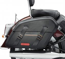 Harley-Davidson® H-D® Detachables™ Saddlebag | Brass Trim | '18-Later Milwaukee-Eight® Softail® Deluxe