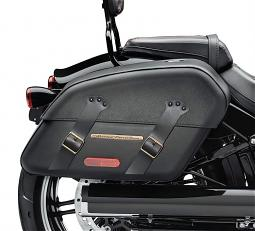 Harley-Davidson® H-D® Detachables™ Saddlebag | Brass Trim | '18-Later Fat Boy® & Breakout®