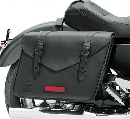 Harley-Davidson® Black Standard Line Throw-Over Saddlebag | Large