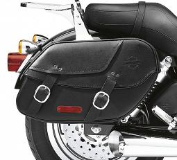 Harley-Davidson® Leather Saddlebags | Bar & Shield® | Dyna®