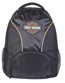 Harley-Davidson® Rubber Bar & Shield® Logo Backpack | Black & Black