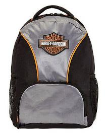 Harley-Davidson® Rubber Bar & Shield® Logo Backpack | Silver & Black