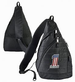 Harley-Davidson® Deluxe USB Quilted Travel Sling Backpack | RWB #1 Logo | Portable Charging Option