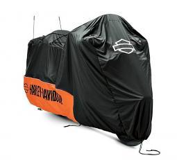 Harley-Davidson® Premium Indoor Motorcycle Cover | Orange/Black | Large