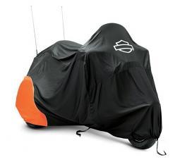 Harley-Davidson® Premium Indoor Motorcycle Cover | Orange/Black | Extra Large
