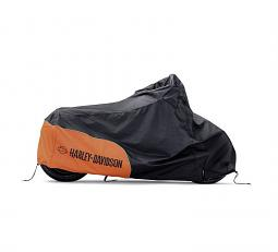 Harley-Davidson® Indoor/Outdoor Motorcycle Cover | Orange/Black | Small
