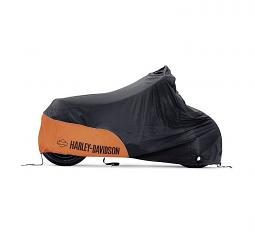 Harley-Davidson® Premium Indoor Motorcycle Cover | Orange/Black | Small