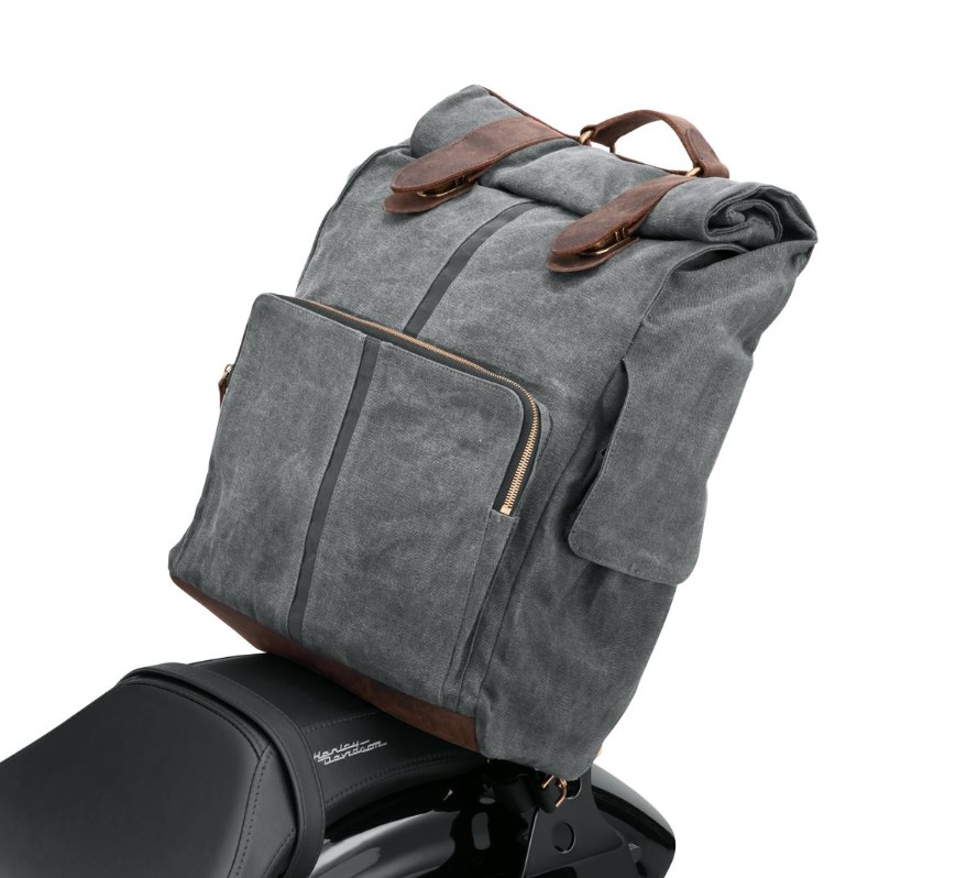 Harley-Davidson® Waxed Canvas Backpack