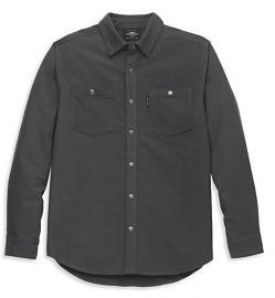 Harley-Davidson® Men's Moleskin Solid-Color Shirt | Asphalt Grey | Long Sleeves
