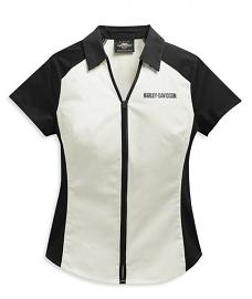 Harley-Davidson® Women's Bar & Shield® Logo Shirt | Zip Front | Short Sleeves