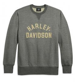 Harley-Davidson® Men's Stacked Logo Pullover | Grey