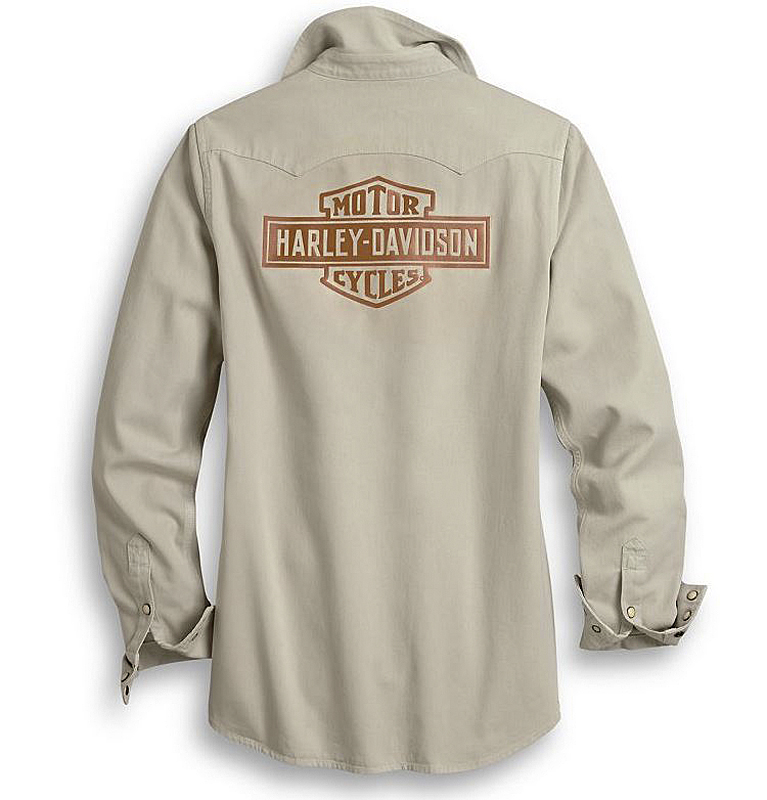 Harley-Davidson® Vintage Logo Shirt | Laser Cut Appliqué Graphics | Long Sleeves