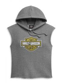 Harley-Davidson® Women's Bar & Shield® Sleeveless Pullover Hoodie | Cropped Fit